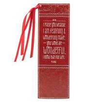 Bookmark Luxleather Tassel: Your Works Are Wonderful, Red