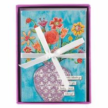 Floral Blessing Boxed Cards: Vase of Flowers, Turquoise (Ecc 3:11)