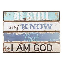 Mdf Plaque: Be Still and Know (Ps 46:10)