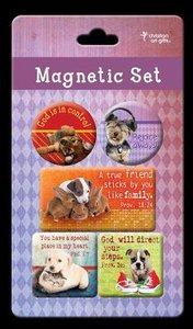 Magnetic Set of 5 Magnets: Pets
