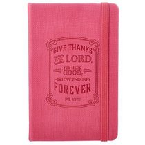 Notepad: Give Thanks With Elastic Band Closure Pink Luxleather