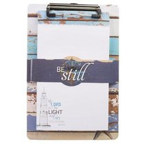Clipboard With Notepad: Be Still, Nautical (Ps 46:10)