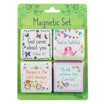 Magnetic Set of 4: God Cares For You...