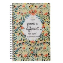 Spiral Notebook: Grace Sufficient (2 Cor 12:9)