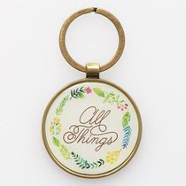 Keyring in Tin: All Things Matt 19:26 (Colored Wreath)