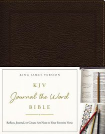 KJV Journal the Word Bible Brown Bonded Leather