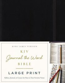 KJV Journal the Word Bible Large Print Black (Red Letter Edition)