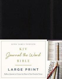 KJV Journal the Word Bible Large Print Hardcover Black Red Letter Edition