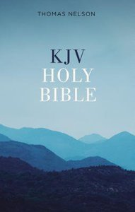 KJV Value Outreach Bible Blue Scenic