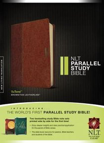 NLT Parallel Study Bible Indexed Brown/Tan (Black Letter Edition)