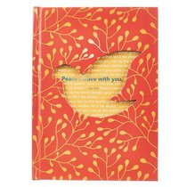 Die-Cut Journal: Peace I Leave With You (Dove/orange)