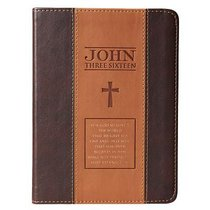 Classic Journal: John 3:16 Two-Tone Tan/Brown