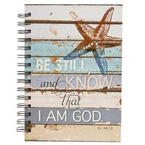 Spiral Journal: Be Still and Know.... Starfish (Large) (Ps 46:10)
