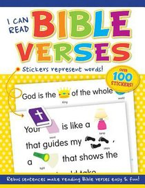 I Can Read Bible Verses (With Over 100 Stickers)