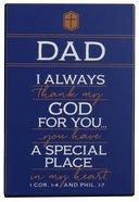 Metal Plaque: Thank You Dad Dark Blue/White (1 Cor 1:4 & Phil 1:7)