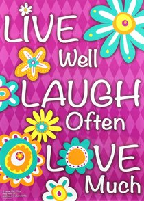 Poster Large: Live Well, Laugh Often, Love Much