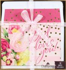 Blank Premium Note Set: Marjolein Bastin Natures Blessings - God Loves You!