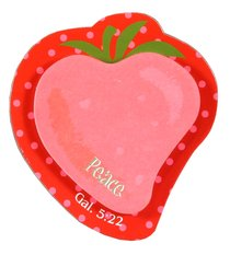 Fruit of the Spirit Sticky Note: Peace Strawberry Red/Pink (Gal 5:22)