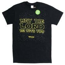 Mens T-Shirt: May the Lord Medium Black/Gold (2 Thess 3:16)