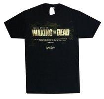 Mens T-Shirt: Waking the Dead X-Large Black/White (John 11:25)
