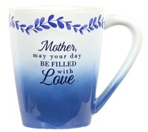 Ceramic Mug: Mother (Blue/White) (Eat Share Love Series)