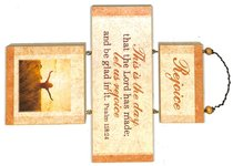 Cross Shaped Three Piece Mdf Wall Plaque: Rejoice, Psalm 118:24 (Crosswords)