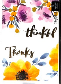 Note Cards: Thankful Floral (50 Pack)