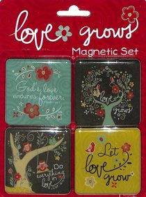 Magnetic Set of 4: Love Grows