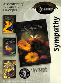 Boxed Cards Sympathy: Flowers & Butterflies