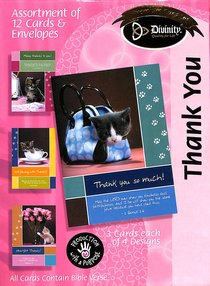 Boxed Cards Thank You: Cats