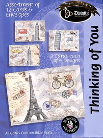 Boxed Cards Thinking of You: Paris Eiffel Tower
