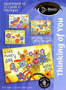 Boxed Cards Thinking of You: Bright Flowers