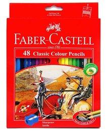 Faber-Castell Classic Colour Pencils Set of 48 + Bonus Sharpener