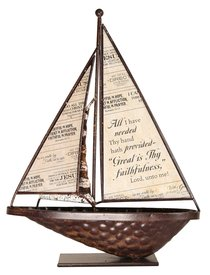 Sailboat Metal Tabletop: Great is Thy Faithfulness