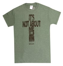 Mens T-Shirt: Its Not About Me Small Gray (Gal 2:20)