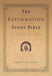ESV Reformation Study Bible Black