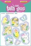 Animals & Flowers (6 Sheets, 54 Stickers) (Stickers Faith That Sticks Series)