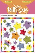 Happy Star (6 Sheets, 120 Stickers) (Stickers Faith That Sticks Series)