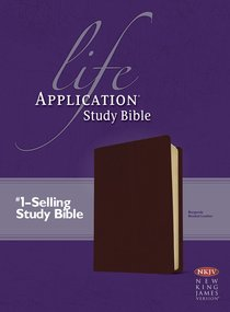 NKJV Life Application Study Bible Burgundy (Red Letter Edition)