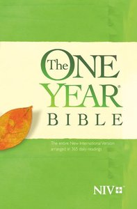 The NIV One Year Bible (Black Letter Edition)