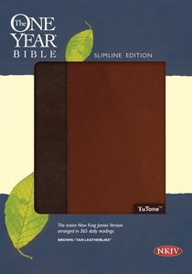 NKJV One Year Bible Brown/Tan (Black Letter Edition)