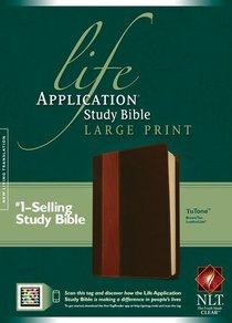 NLT Life Application Study Large Print Bible Indexed Brown/Tan Tutone (Red Letter Edition)