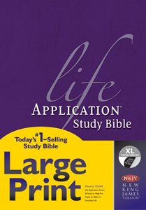 NKJV Life Application Study Bible Large Print Thumb Indexed (Red Letter Edition)