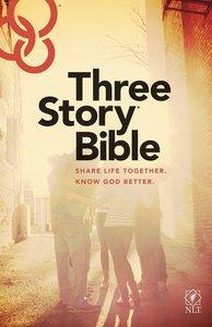 NLT Three Story Bible (Black Letter Edition)