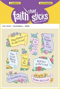 Scroll Motto (6 Sheets, 48 Stickers) (Stickers Faith That Sticks Series)