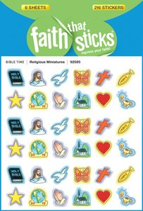 Religious Miniatures (6 Sheets, 216 Stickers) (Stickers Faith That Sticks Series)
