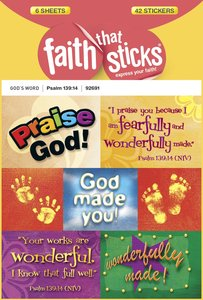 Psalm 139:14 (6 Sheets, 42 Stickers) (Stickers Faith That Sticks Series)