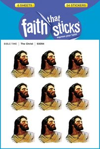 The Christ (6 Sheets, 54 Stickers) (Stickers Faith That Sticks Series)