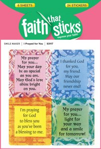I Prayed For You (6 Sheets, 24 Stickers) (Stickers Faith That Sticks Series)