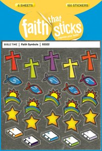 Faith Symbols (6 Sheets, 150 Stickers) (Stickers Faith That Sticks Series)